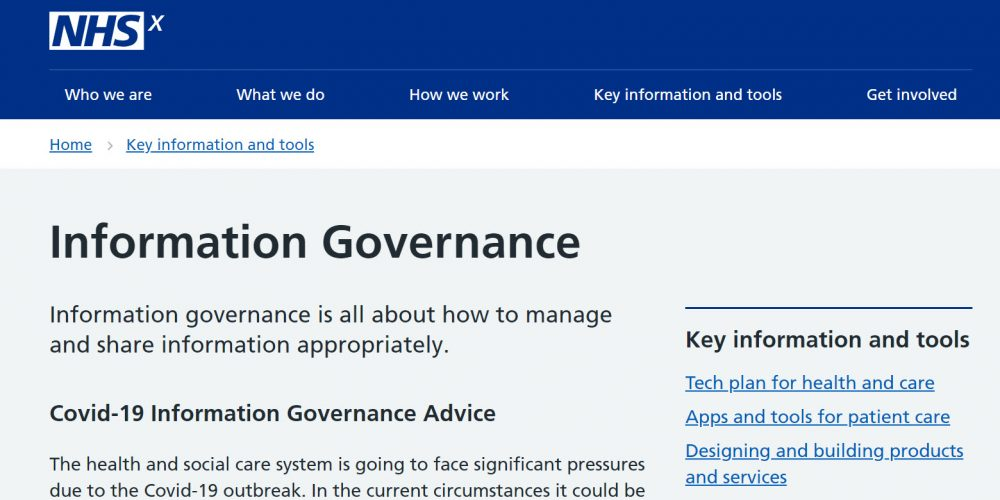 Covid-19 Information Governance